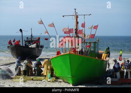 fishermen work - Stock Photo