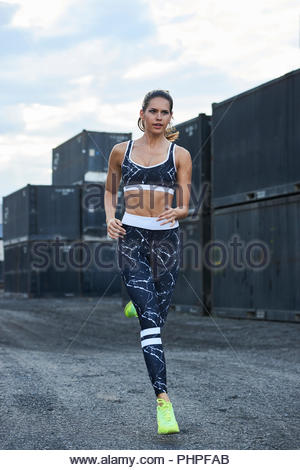 Woman running - Stock Photo