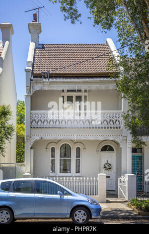 a typical terrace house in Sydney Australia - Stock Photo