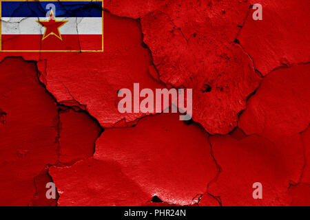 flag of Socialist Republic of Bosnia and Herzegovina - Stock Photo