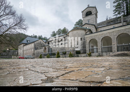 Ancient Monastery in Cetinje town - Stock Photo