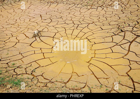 the impact of climate change, made dry land, water shortages - Stock Photo