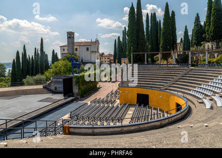 Vittoriale degli italiani, Gardone Riviera, Lake Garda, Lombardy, Italy, Europe - Stock Photo