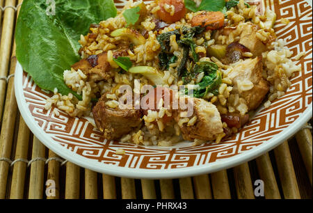 Slammin Pork Fried Rice - Stock Photo