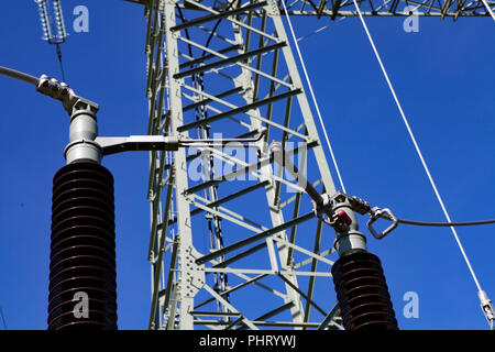 Umspannwerk, Transformer Station - Stock Photo