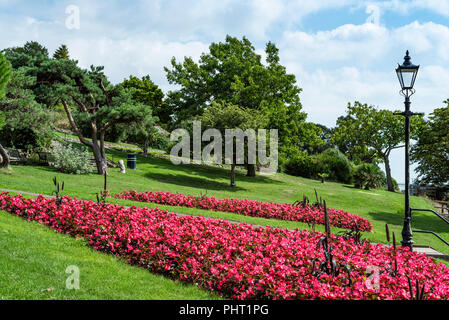 Cliff gardens Southend on sea council park. Seaside municipal garden. - Stock Photo