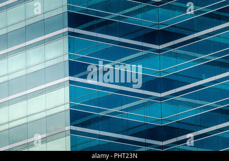 Glass facade building located in Downtown Jacksonville FL USA - Stock Photo