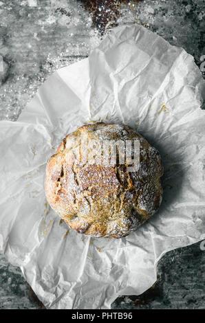 Spelt Rye Crusty Overnight Bread - Stock Photo