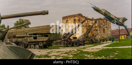Open air military museum in Turanj, Croatia - Stock Photo