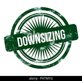 Downsizing - green grunge stamp - Stock Photo