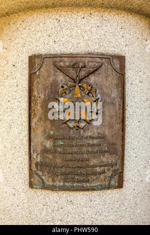 James Farmer Memorial, Mary Washington University, 1301 College Avenue, Fredericksburg, Virginia - Stock Photo