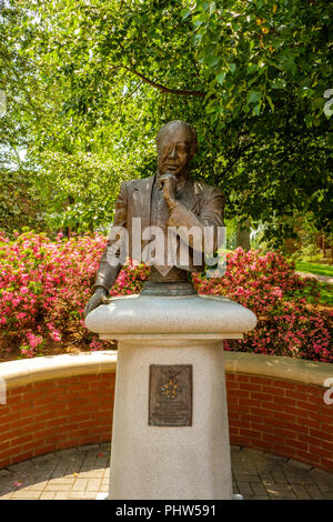 James Farmer Memorial, Mary Washington University, 1301 College Avenue, Fredericksburg, Virginia - Stock Photo
