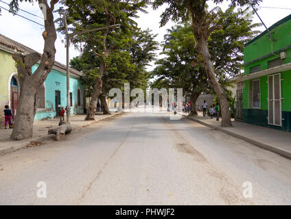 Old portuguese colonial houses, Benguela Province, Catumbela, Angola - Stock Photo