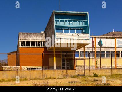 Old portuguese colonial building, Huila Province, Lubango, Angola - Stock Photo