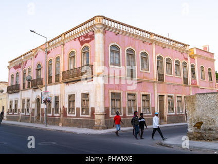 Old portuguese colonial building, Namibe Province, Namibe, Angola - Stock Photo