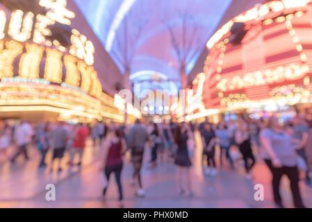 Las Vegas Blurred background night - Stock Photo