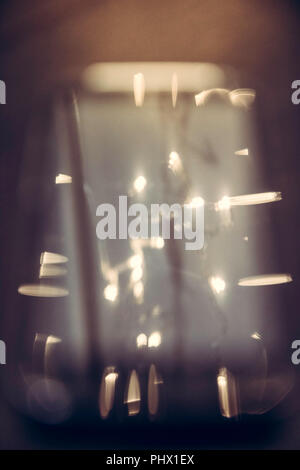Abstract sparkling blurred smarthone screen background in vintage style - Stock Photo