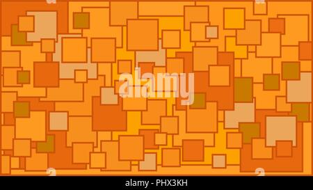 Squares in various shades of orange background - Illustration,  Illustration with squares,  Orange squares background - Stock Photo