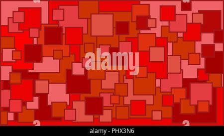 Squares in various shades of red background - Illustration,  Illustration with squares,  Red squares background - Stock Photo