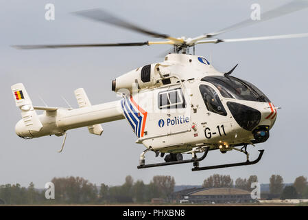 A McDonnell Douglas Helicopter Systems MD902 helicopter of the Belgian Federal Police. - Stock Photo