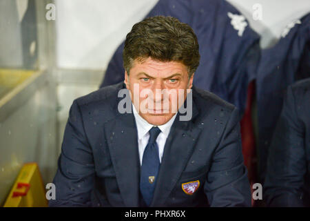 Turin, Italy. 2nd Sept 2018. Walter Mazzarri, head coach of Torino FC,during the Serie A football match between Torino FC and S.P.A.L at Olympic Grande Torino Stadium on September 02, 2018 in Turin, Italy. Credit: Antonio Polia/Alamy Live News - Stock Photo