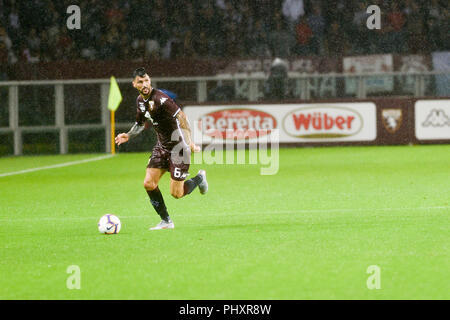 Turin, Italy. 2nd Sept 2018. Roberto Soriano (Torino FC),during the Serie A football match between Torino FC and S.P.A.L at Olympic Grande Torino Stadium on September 02, 2018 in Turin, Italy. Credit: Antonio Polia/Alamy Live News - Stock Photo