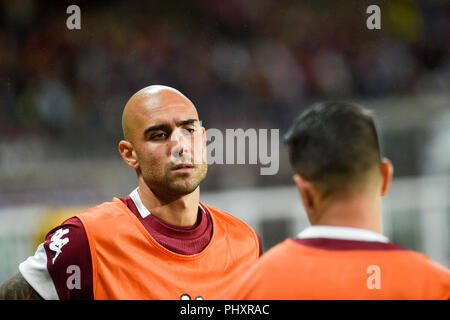 Turin, Italy. 2nd Sept 2018. Simone Zaza (Torino FC),during the Serie A football match between Torino FC and S.P.A.L at Olympic Grande Torino Stadium on September 02, 2018 in Turin, Italy. Credit: Antonio Polia/Alamy Live News - Stock Photo