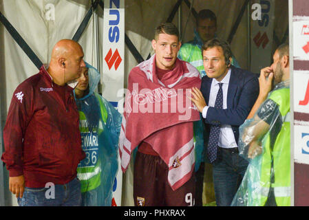 Turin, Italy. 2nd Sept 2018. Andrea Belotti (Torino FC),during the Serie A football match between Torino FC and S.P.A.L at Olympic Grande Torino Stadium on September 02, 2018 in Turin, Italy. Credit: Antonio Polia/Alamy Live News - Stock Photo