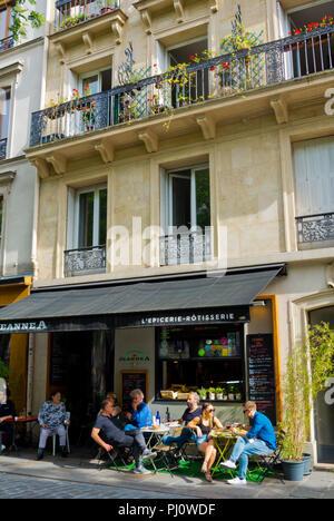 Restaurant, Rue Jean-Pierre Timbaud, Oberkampf, Paris, France - Stock Photo