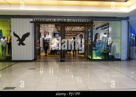August 31 2018 American Eagle Outfitters Store Inside The Mall In Downtown Vancouver BC