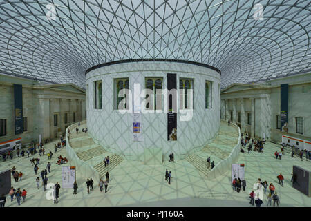 Lichthof, British Museum, Great Russell St, Bloomsbury, London, Grossbritannien - Stock Photo