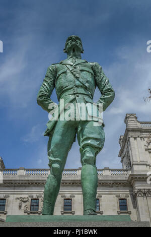 Stateu, Jan Christian Smuts, Parliament Square, London, England, Grossbritannien - Stock Photo