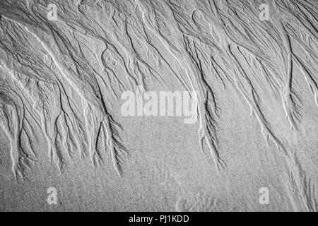 Sand Patterns at Seaham Hall beach, Durham, UK - Stock Photo