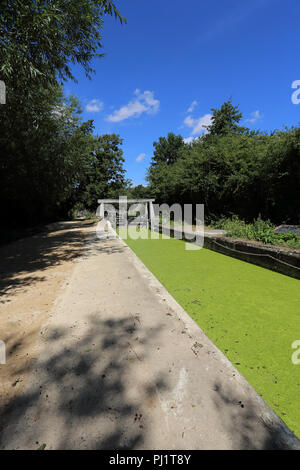 The lock at Flatford Mill, Flatford Road, East Bergholt, Colchester, UK - Stock Photo