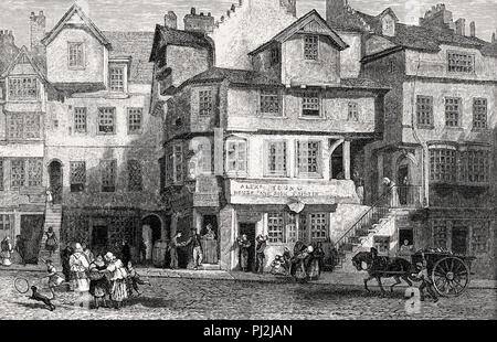John Knox House, a historic house in Edinburgh, Scotland, 18th century - Stock Photo