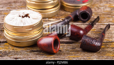 Vintage smoking pipes  Good expensive tobacco  Background of