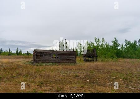 An Old Cabin Along The Klondike Highway - Stock Photo