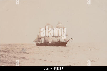 Vintage Photograph of The British Royal Navy Ship H.M.S Voltage - Stock Photo