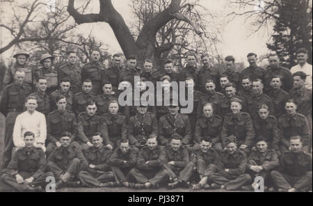 Vintage Photograph of British Army Soldiers Duing World War 2 - Stock Photo