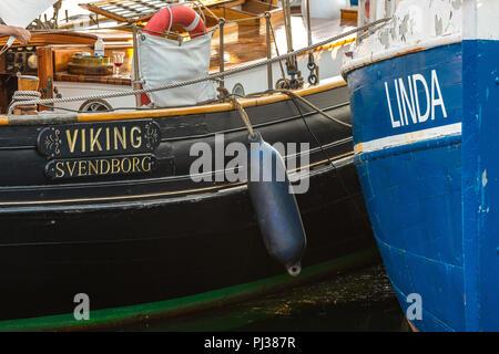 Assens, sailboat from svendborg - Stock Photo