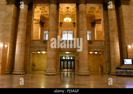 Adam's Street exit in Chicago's Union Station - Stock Photo