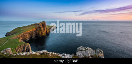 The lighthouse built by David Stevenson at Neist point on Skye, Scotland - Stock Photo