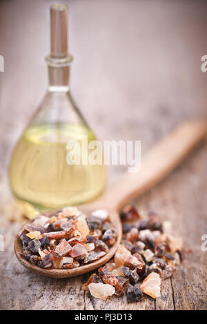 Frankincense dhoop, a natural aromatic resin used in perfumes and incenses - Stock Photo