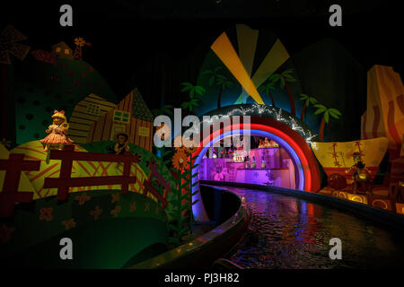 Display on It's a Small World ride, Disneyland Park, Anaheim, California, United States of America - Stock Photo