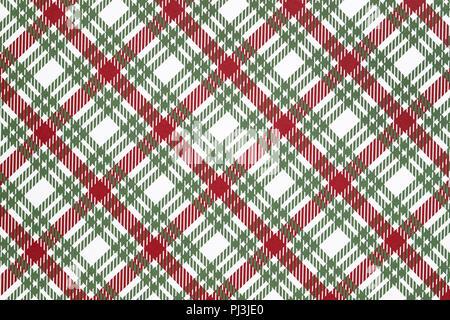 Colorful plaid seamless pattern, tartan pattern - Stock Photo