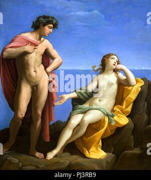 Bacchus and Ariadne by Guido Reni. - Stock Photo