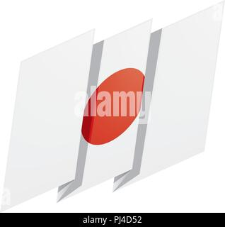 Japan flag, vector illustration - Stock Photo