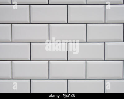 White tile with black joints texture - Stock Photo