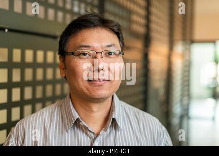 Batbayar Chogsom, Filmmaker, Zuerich. 2018_09_03. Portrait - Stock Photo