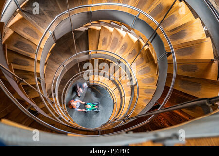 Spiral staircase in The Lighthouse, Glasgow's Centre for Design and Architecture in Scotland UK - Stock Photo
